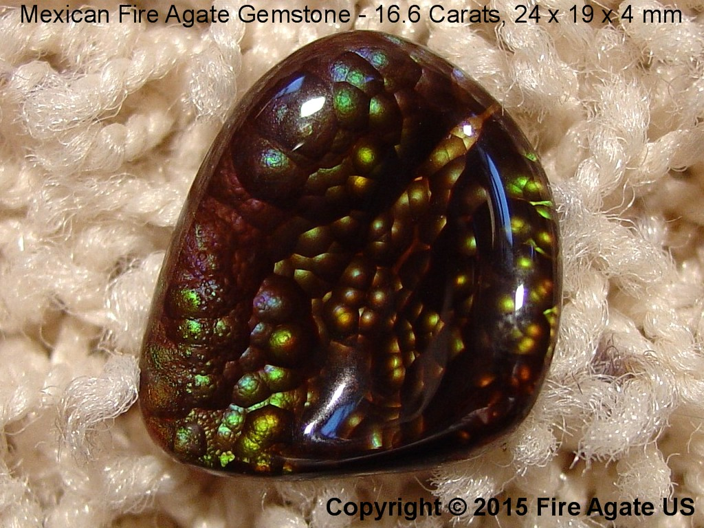 Photo Mexican Fire Agate Gemstone